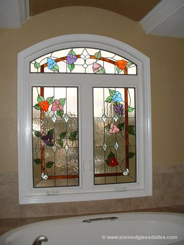 Dallas stained glass window gallery stained glass dallas for Stained glass bathroom window designs