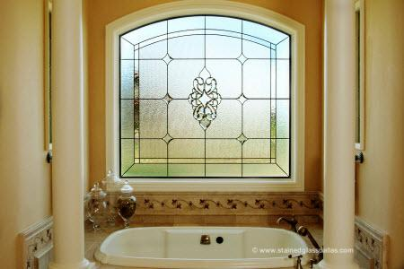 Stained glass for your home options for any room for Stained glass bathroom window designs