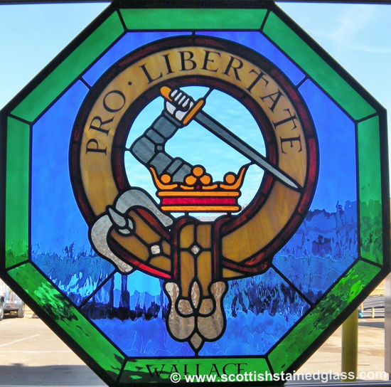 family crest stained glass dallas
