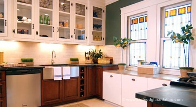 Stained Glass Kitchen Windows Cabinets Dallas Stained Glass Dallas