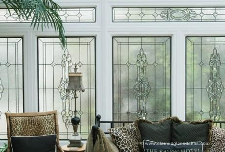 Stained Glass Transom Sunroom Dallas