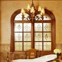 Stained Glass Bathroom Window Dallas
