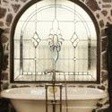 Dallas Stained Glass Bathroom Windows
