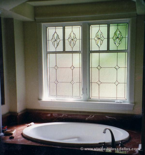 stained glass bathroom window dallas - Bathroom Window
