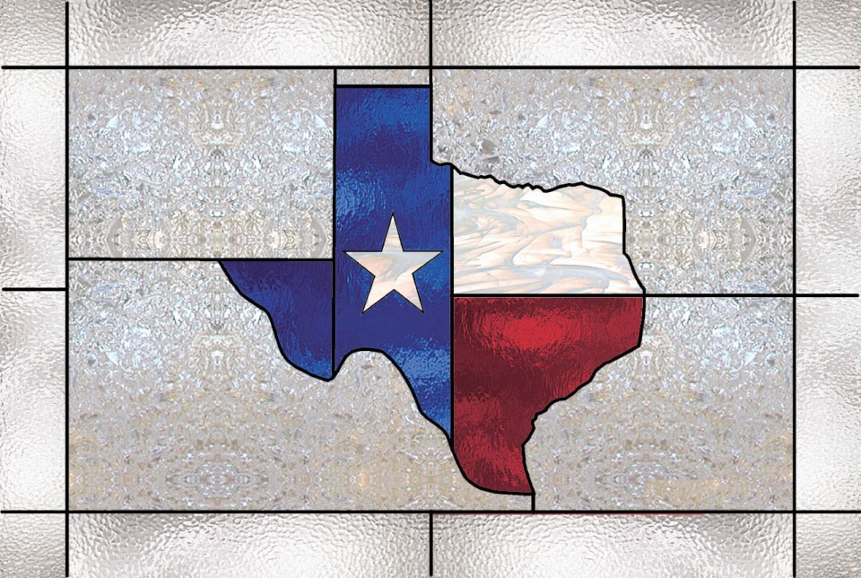 Texas Flag Stained Glass