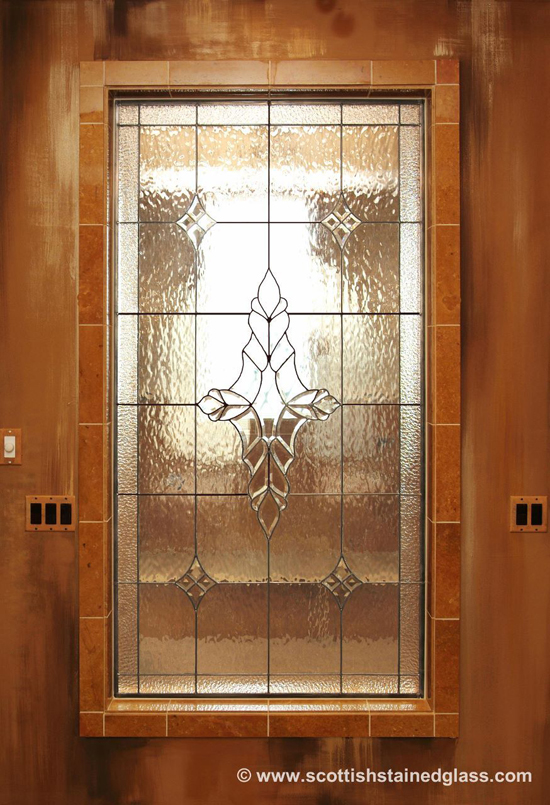 shine to your bathroom with stained glass cabinets in your bathroom