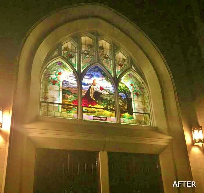 Leavenworth AFTER church stained glass