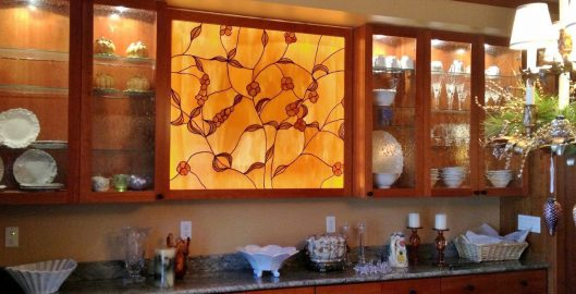 cabinet door stained glass dallas