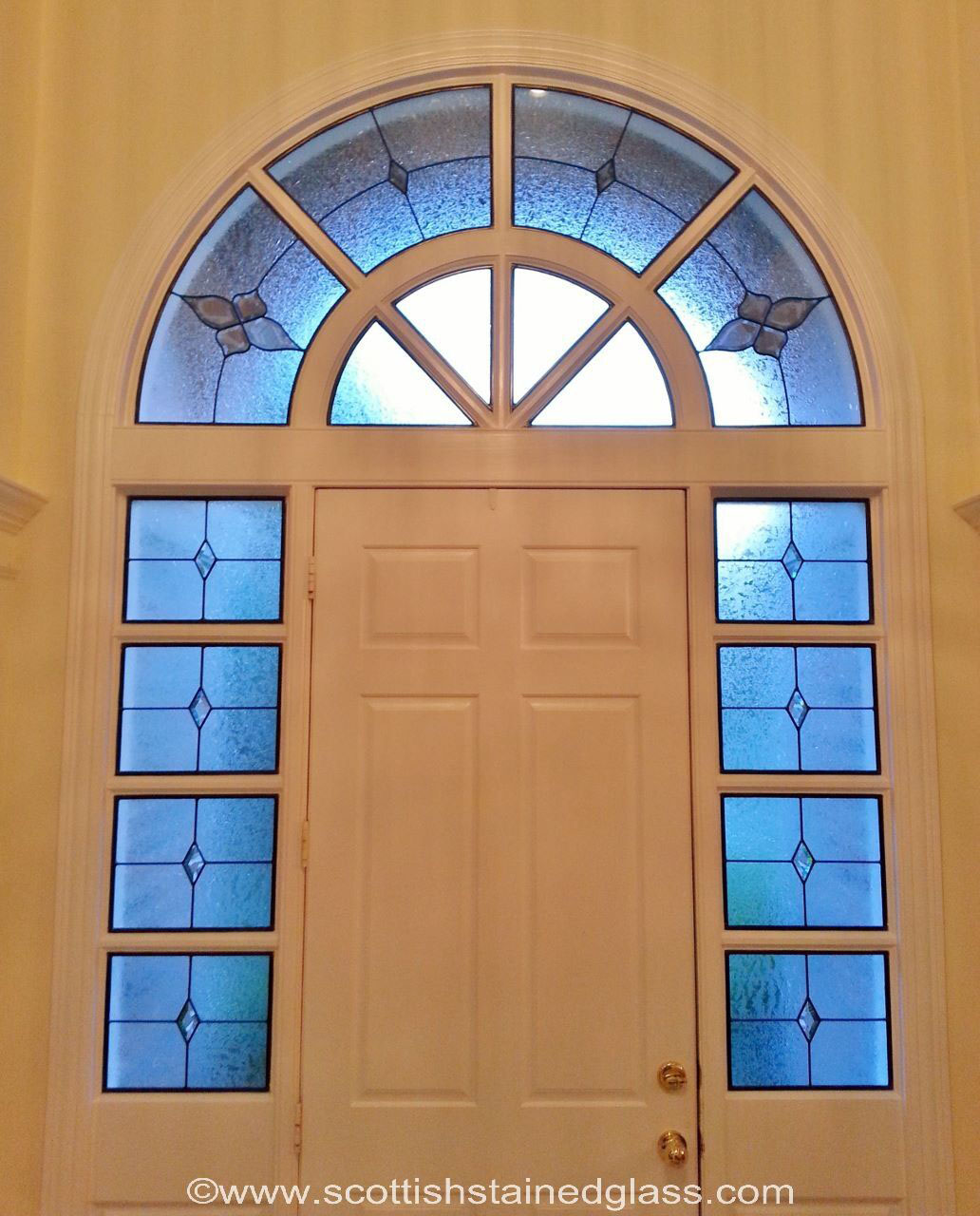 dallas stained glass sidelights design