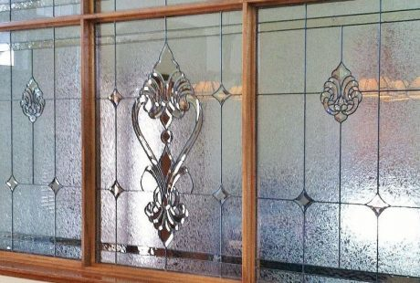 dining room texas stained glass